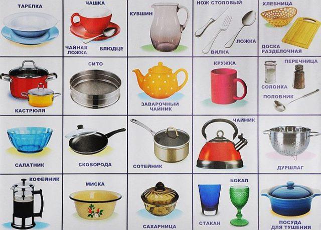 Виды посуды
