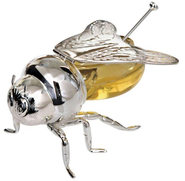 Банка для меда пчела