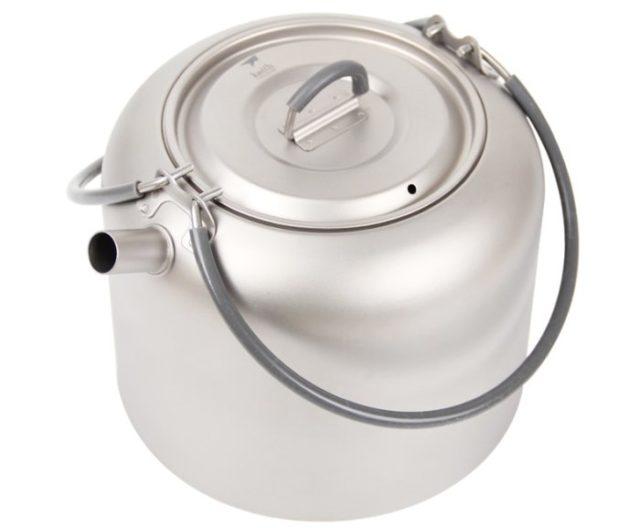 Титановый чайник походный