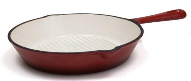 Чугунная эмалированная сковородка BELEZZA